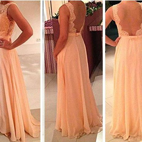 Custom Made Long A line Lace Prom Dresses, Lace Bridesmaid Dresses, Long Lace Prom Dresses, Cheap Long Prom Dresses